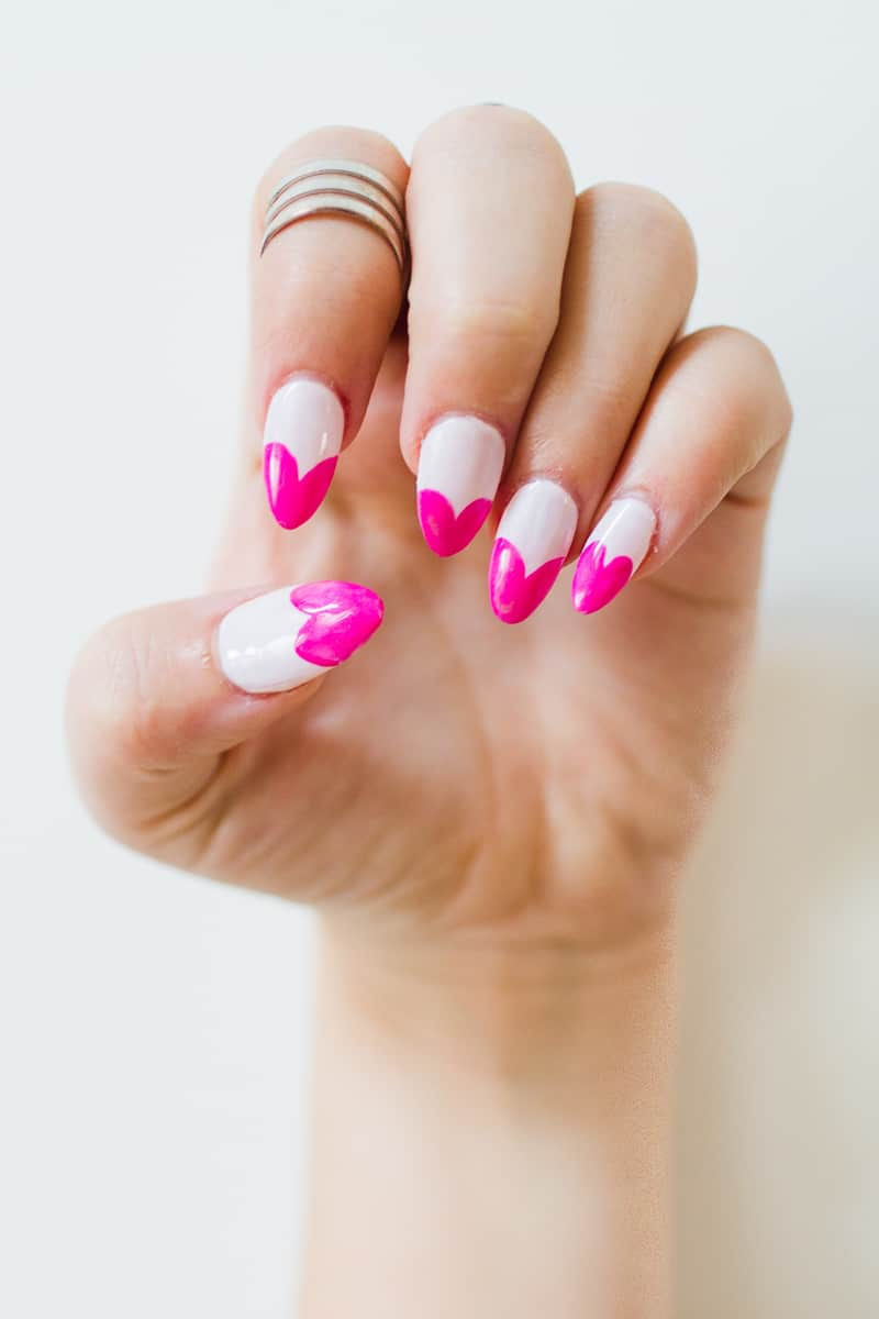 DIY THIS CUTE HEART MANICURE FOR FUN PINK NAIL ART! | Bespoke-Bride ...
