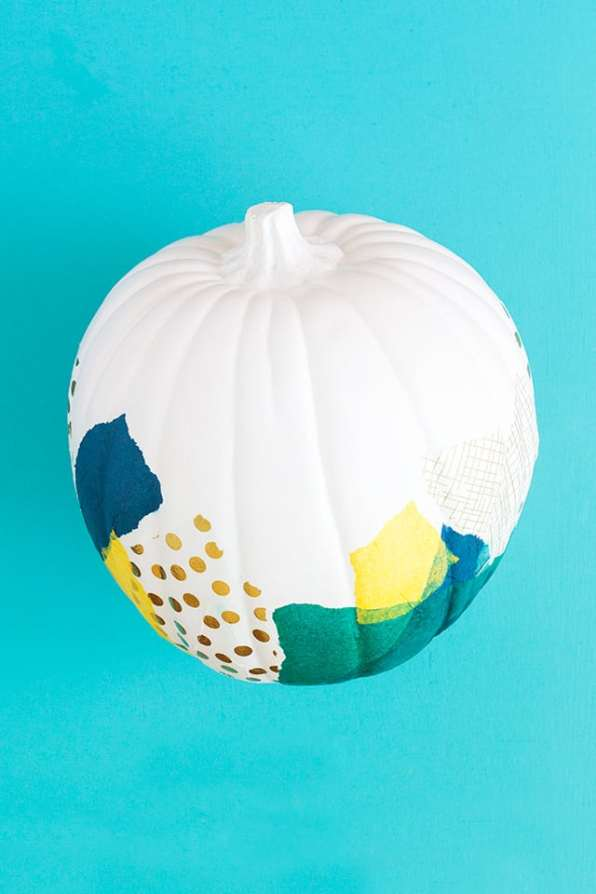 decoupage-tissue-paper-pumpkin-diy-for-halloween-2