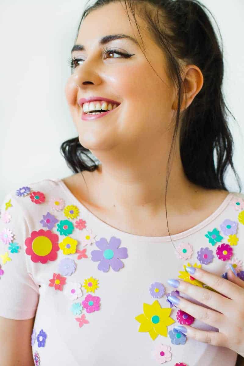 diy-embellished-dress-make-your-own-wedding-bridesmaid-dress-cricut-brooch-jewels-floral-flower-summer-fashioin-tutorial-12