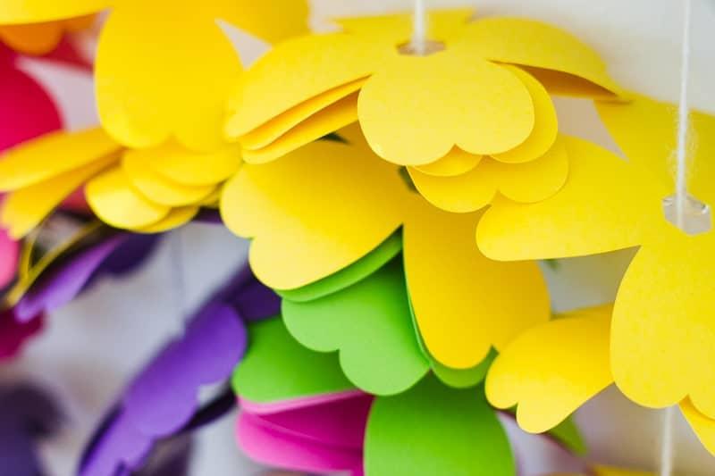 diy-floral-flower-backdrop-bright-colourful-altar-photobooth-cascading-modern-fun-wedding-4