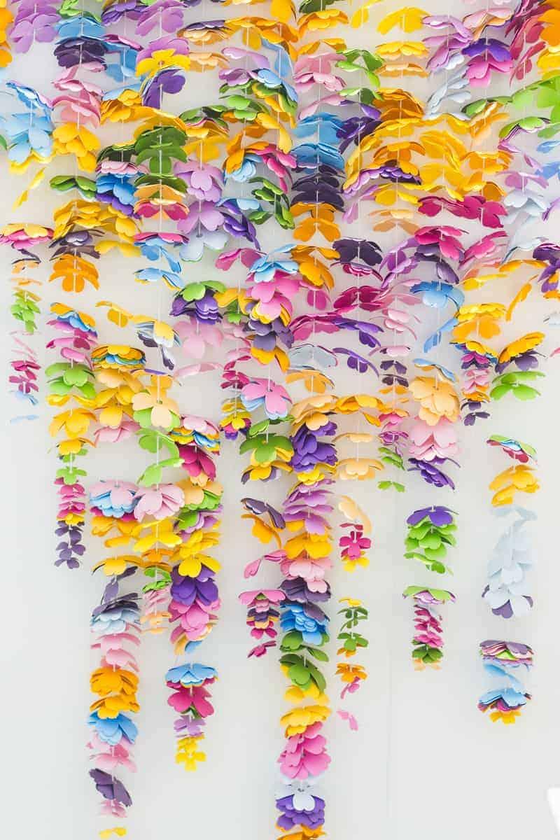 diy-floral-flower-backdrop-bright-colourful-altar-photobooth-cascading-modern-fun-wedding-9