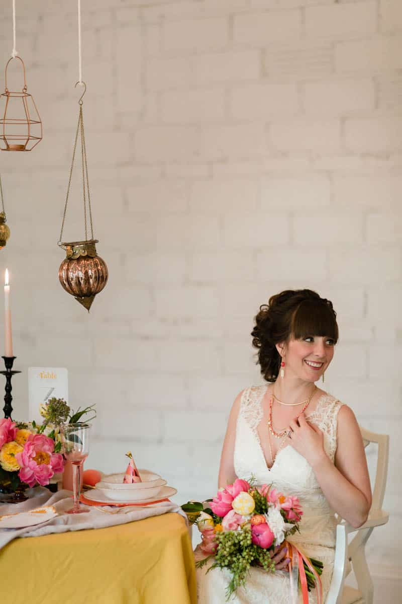 fun-colourful-yellow-coral-peach-wedding-and-bridal-shower-ideas-17