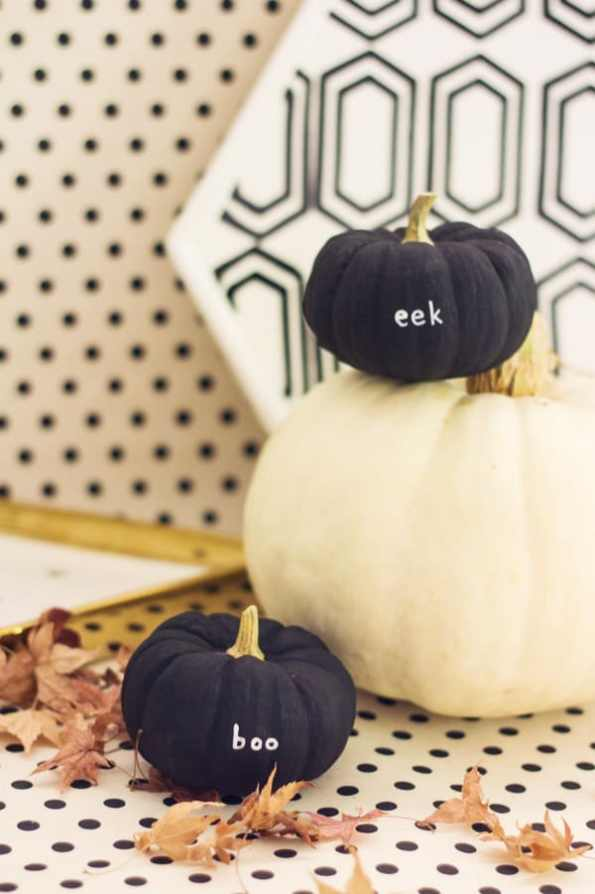 tiny-slogan-quote-message-pumpkins-diy-for-halloween-fall-weddings