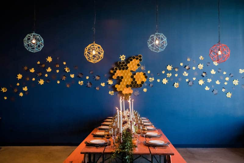 bee-themed-wedding-ideas-in-a-brewery-1