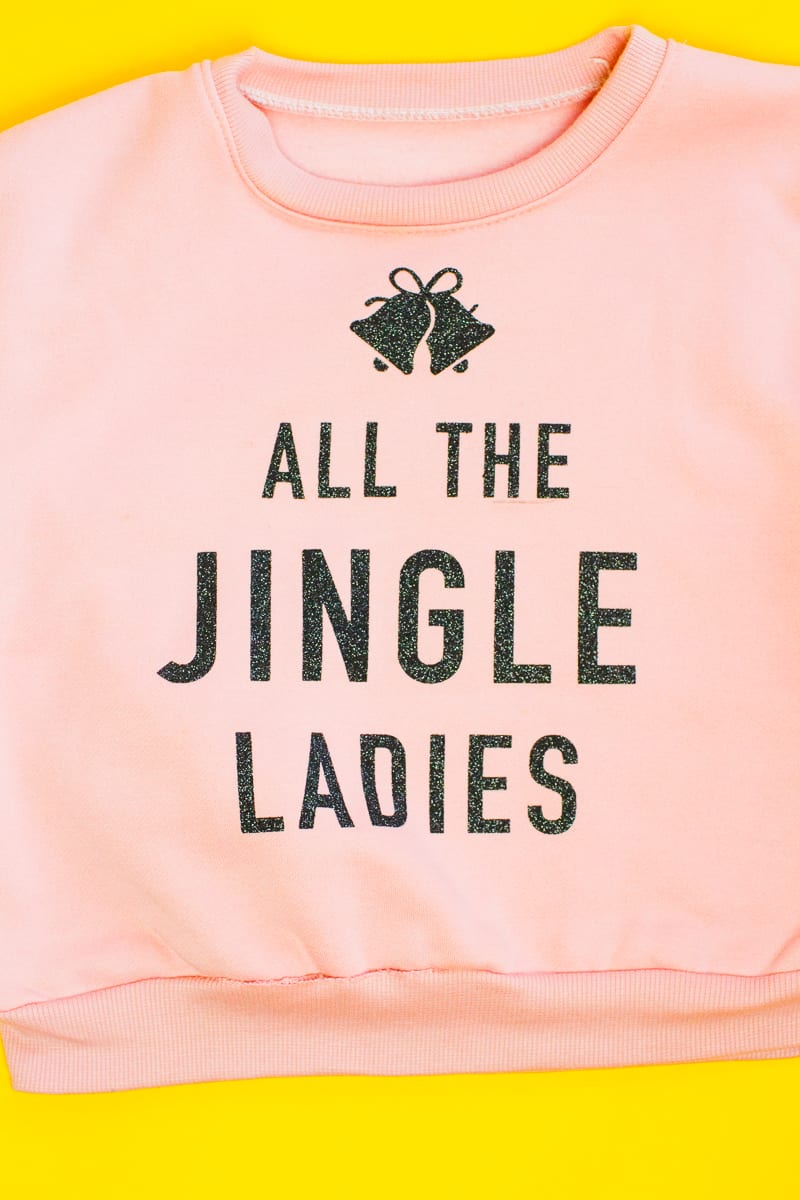 diy-slogan-graphic-christmas-jumper-diy-iron-on-all-the-jingle-ladies-cricut-pink-black-glitter-6