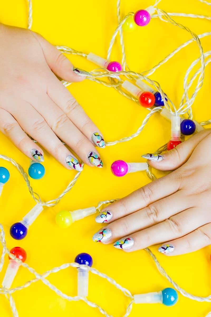 20-favourite-christmas-diys-christmas-lights-nail-tutorial