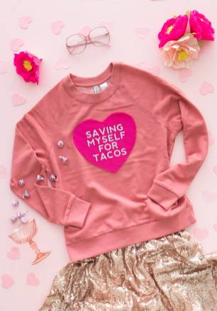 60-VALENTINES-DAY-GIFT-DIY'S-FOR-YOUR-GAL-PALS-CONVERSATION-HEART-SWEATSHIRT