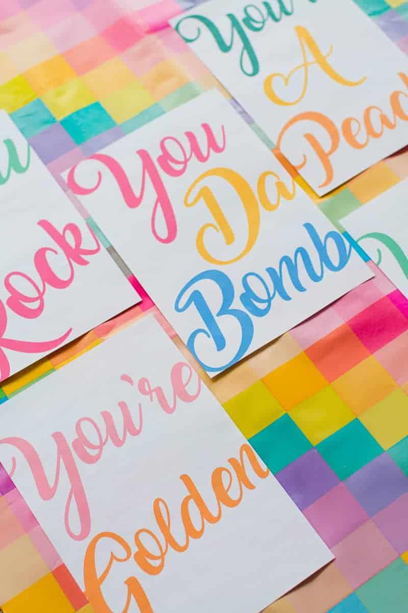 free-printable-thank-you-cards-calligraphy-modern-wedding-postcard-colourful-3