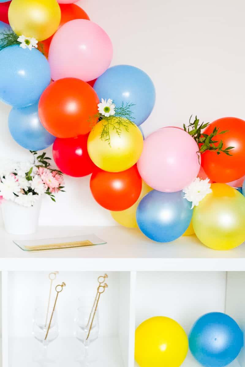 DIY Balloon Backdrop Arch Colourful Fun-16