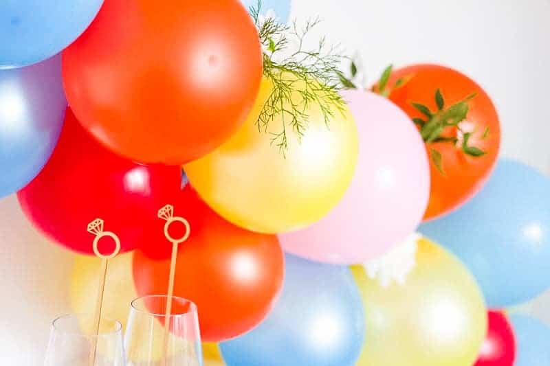 DIY Balloon Backdrop Arch Colourful Fun-2