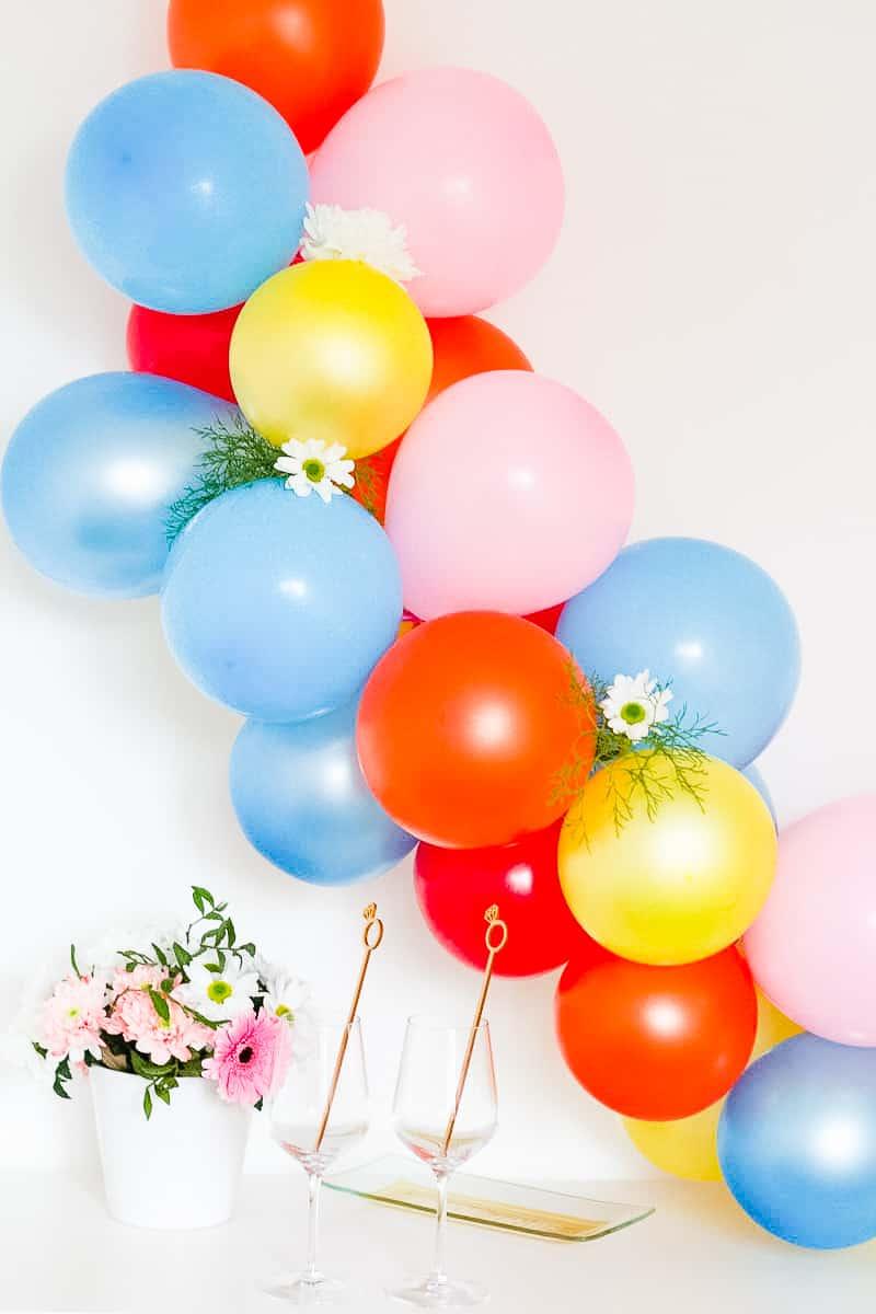 DIY Balloon Backdrop Arch Colourful Fun-3