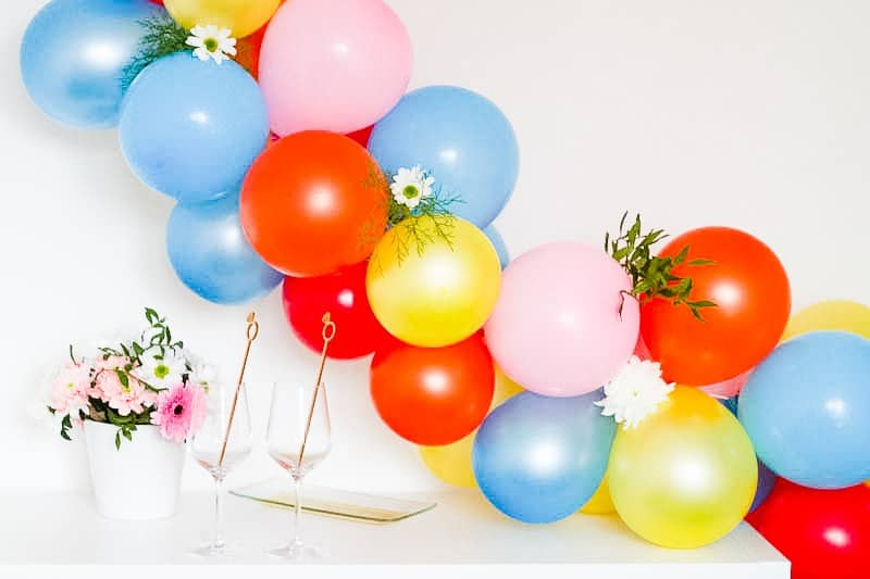 DIY Balloon Backdrop Arch Colourful Fun-4
