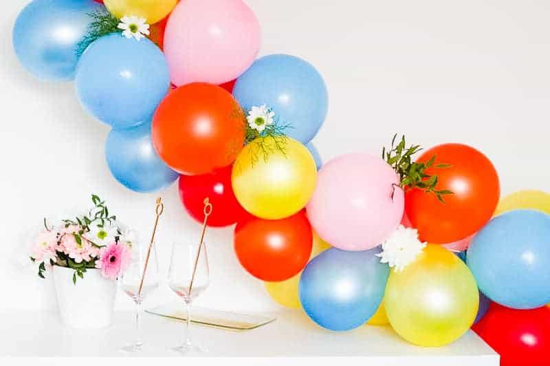 DIY Balloon Backdrop Arch Colourful Fun-4