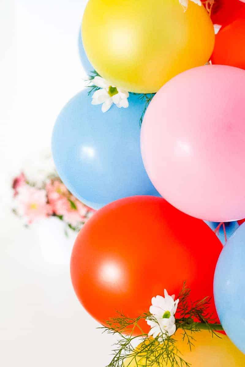 DIY Balloon Backdrop Arch Colourful Fun-9