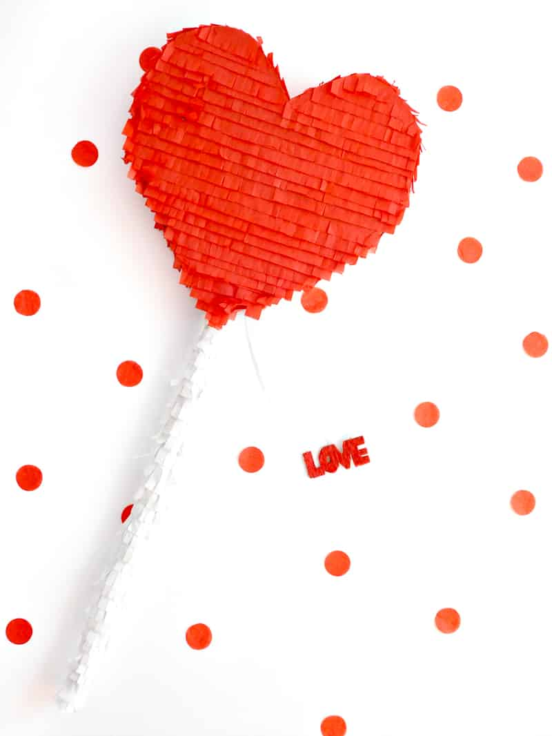 DIY Heart Lollipop Piñata for Valentines Day party fun pinata tutorial-12