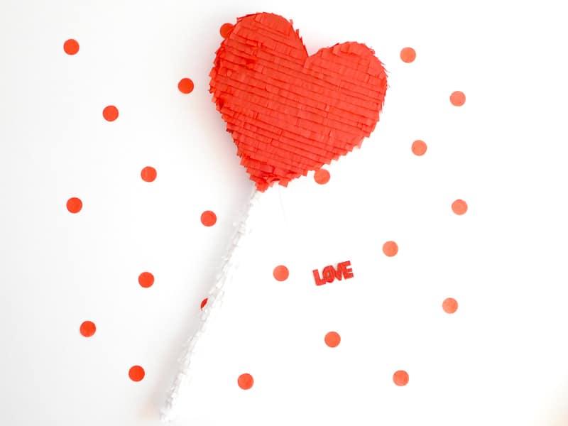 DIY Heart Lollipop Piñata for Valentines Day party fun pinata tutorial-13