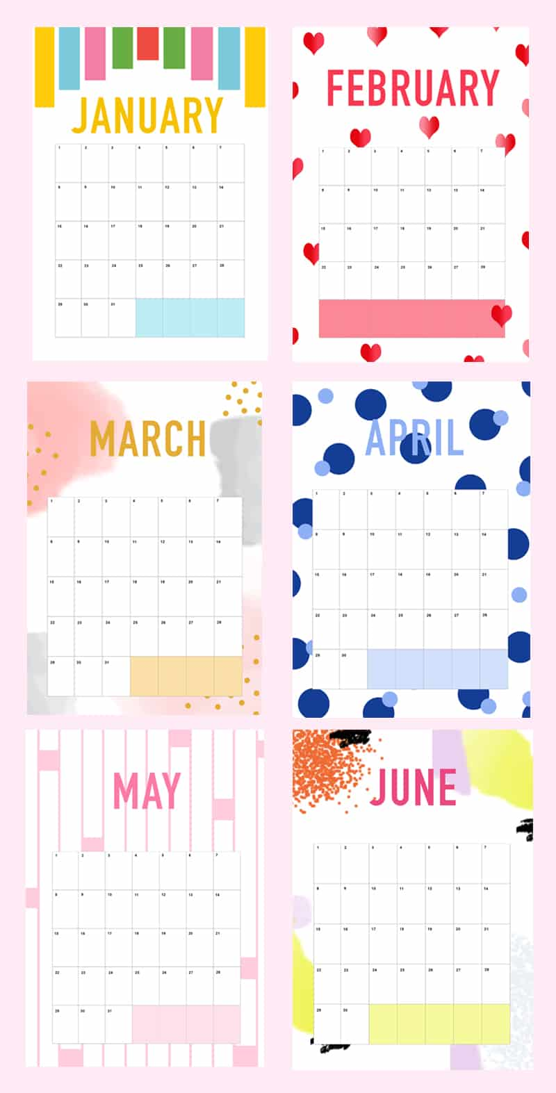 Printable DIY Wedding Planner Organiser Calendar 1