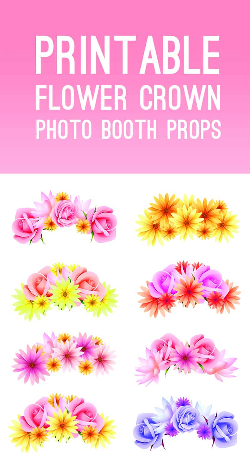 Printable Flower Crown Photo Booth Props
