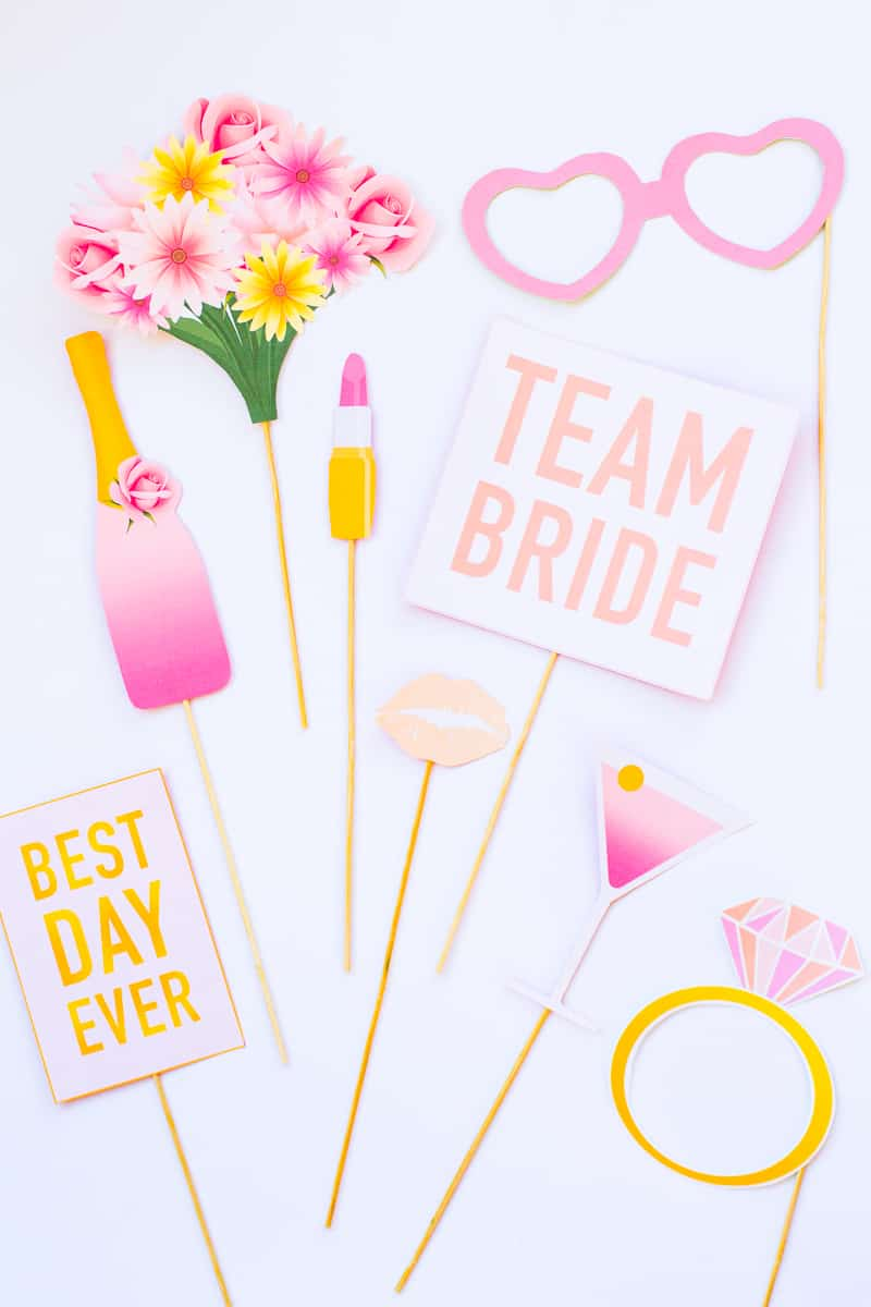 Printable Hen Party Props Bridal Shower Bachelorette Party Download Girlie Cocktails Fun_-2