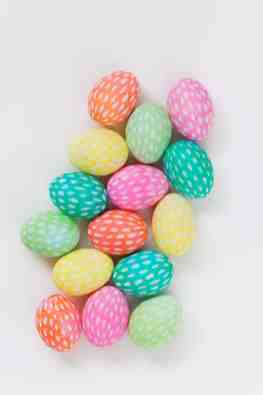 BRUSHSTROKE PAINTED EASTER EGGS - TELL LOVE AND PARTY