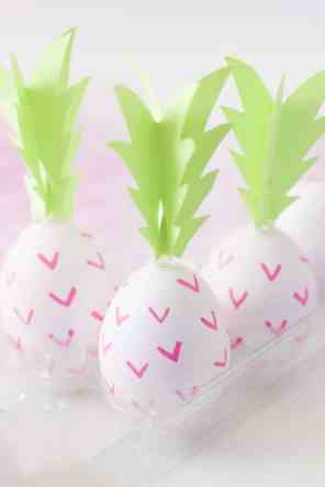 DIY PINK PINEAPPLE EASTER EGGS - BEST FRIENDS FOR FROSTING