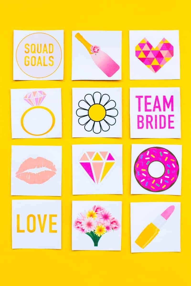 Free Printable Memory Game Bridal shower Bachelorette fun easy girlie pink download-11