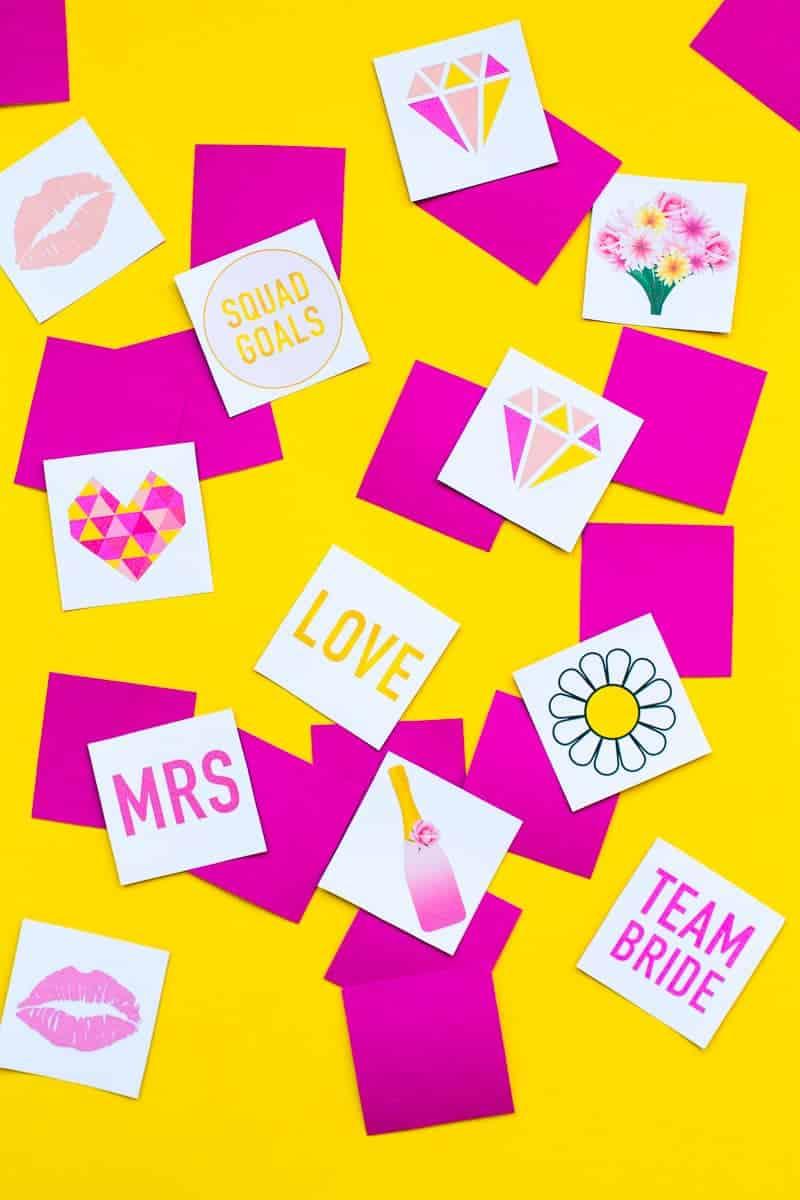 Free Printable Memory Game Bridal shower Bachelorette fun easy girlie pink download-5