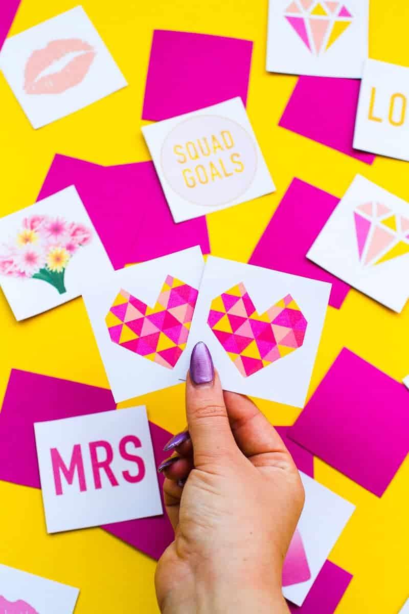 Free Printable Memory Game Bridal shower Bachelorette fun easy girlie pink download-7