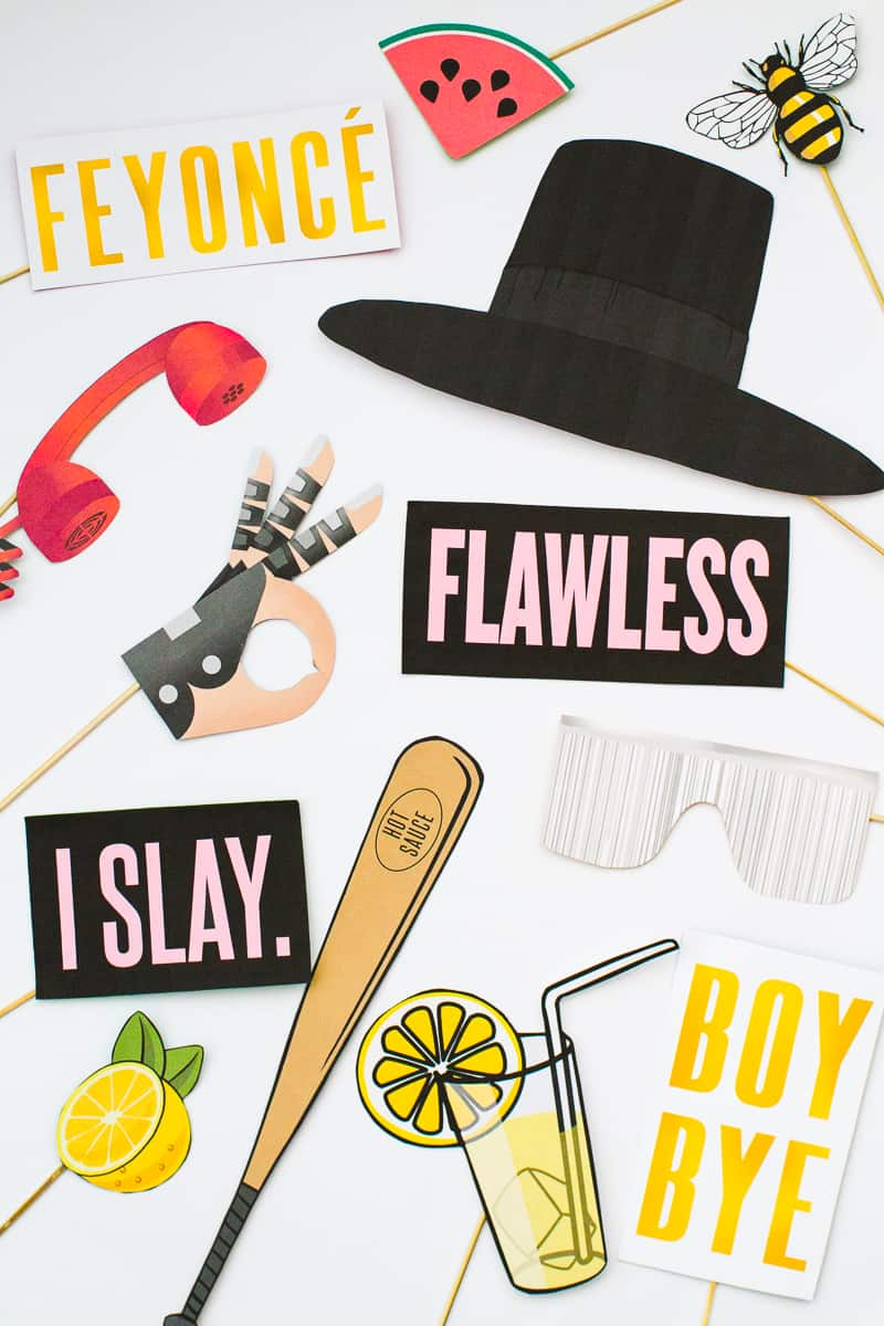 Printable Beyoncé Photo Booth Props For Your Bachelorette Party