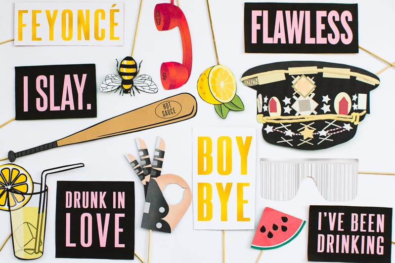 Beyoncé Beyonce Photo Booth Props Bachelorette Party Hen Party Bridal Shower Decor Decorations Accessories Feyonce Queen Bey-7