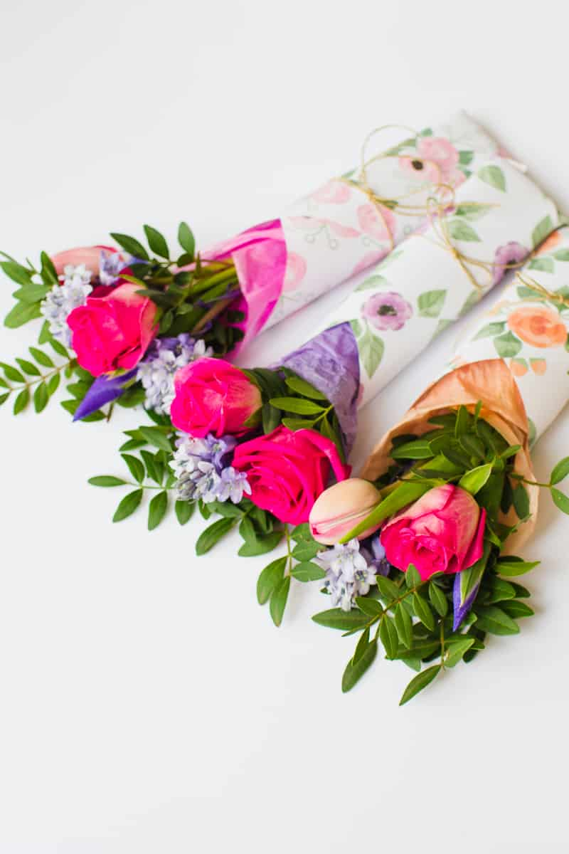 Mothers Day Flower Gift Wrap Free Printable Download Floral Flower_-17