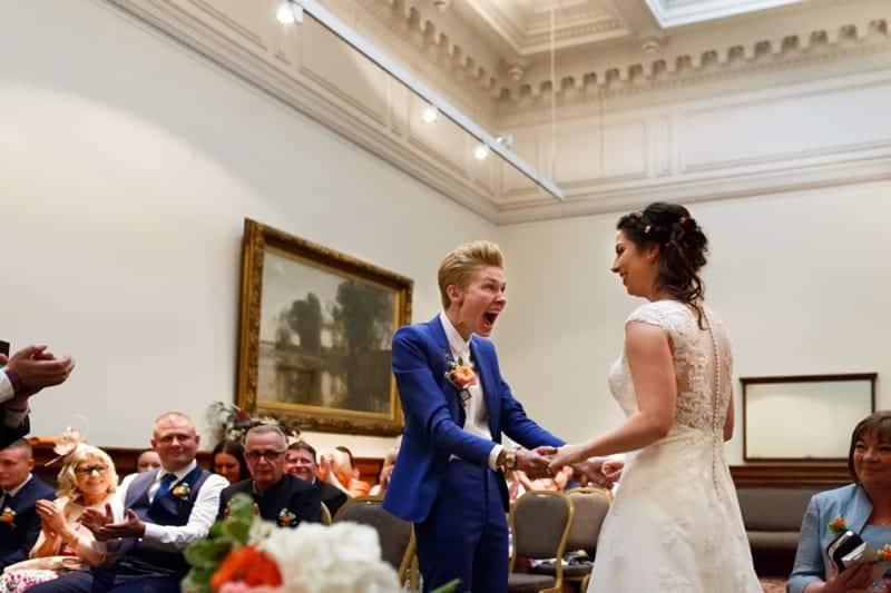 SAME-SEX COLOURFUL SPRING WAREHOUSE WEDDING (2)