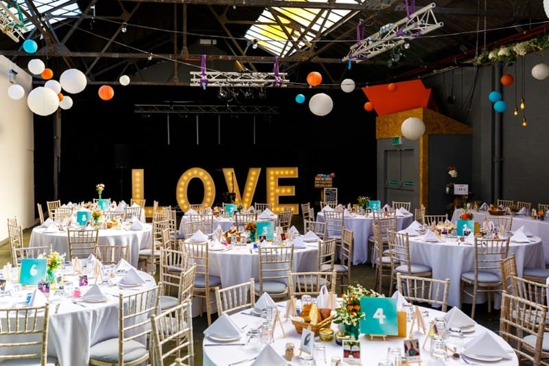 SAME-SEX COLOURFUL SPRING WAREHOUSE WEDDING (5)