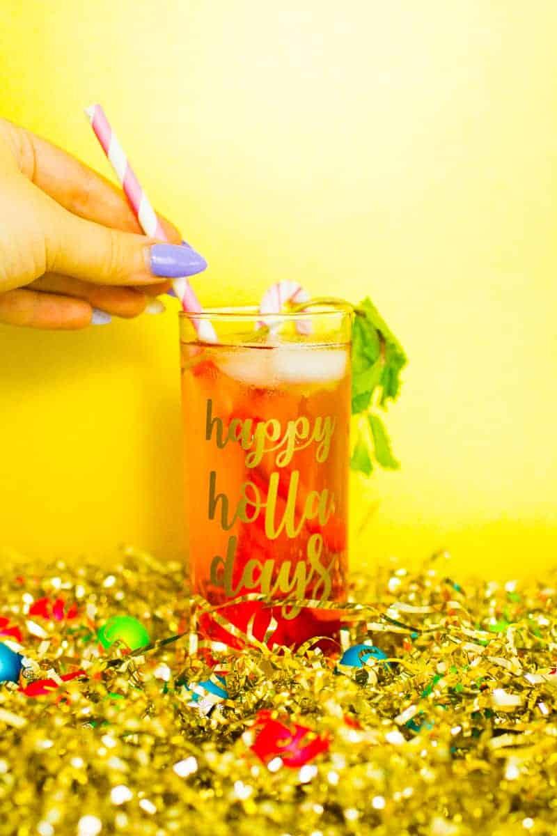 Diy Christmas Slogan Pun Glasses With Festive Funny Vinyl
