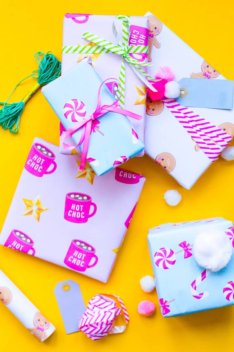 download the cutest free printable christmas gift wrap | bespoke