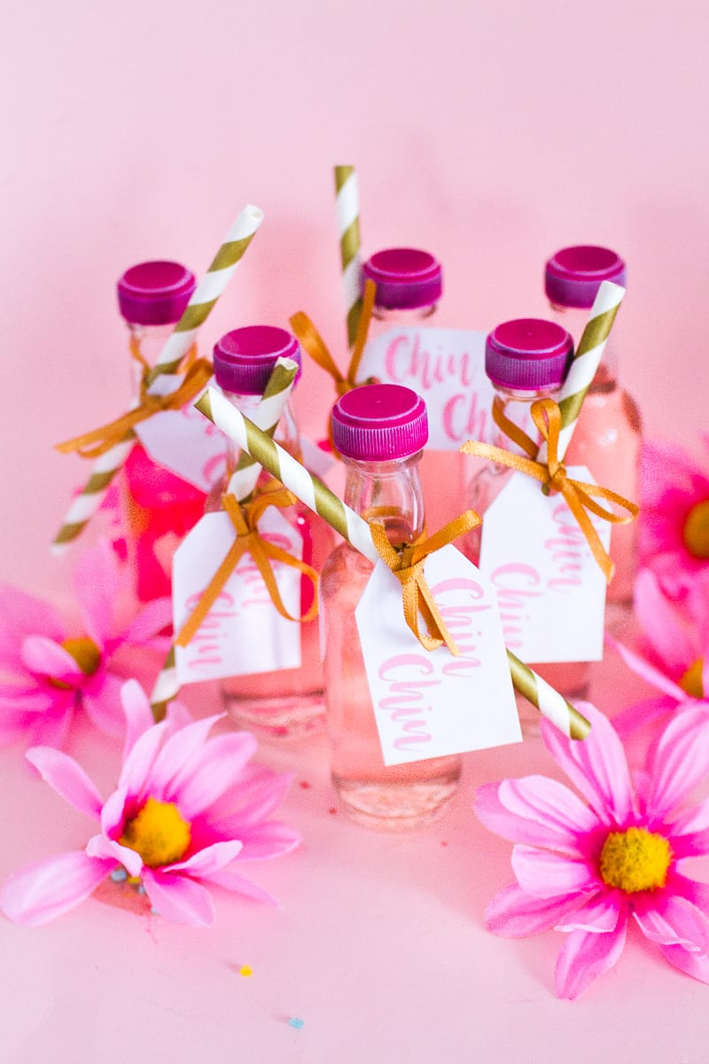 DIY PINK GIN WEDDING FAVOURS WITH FREE PRINTABLE TAGS   Bespoke ...