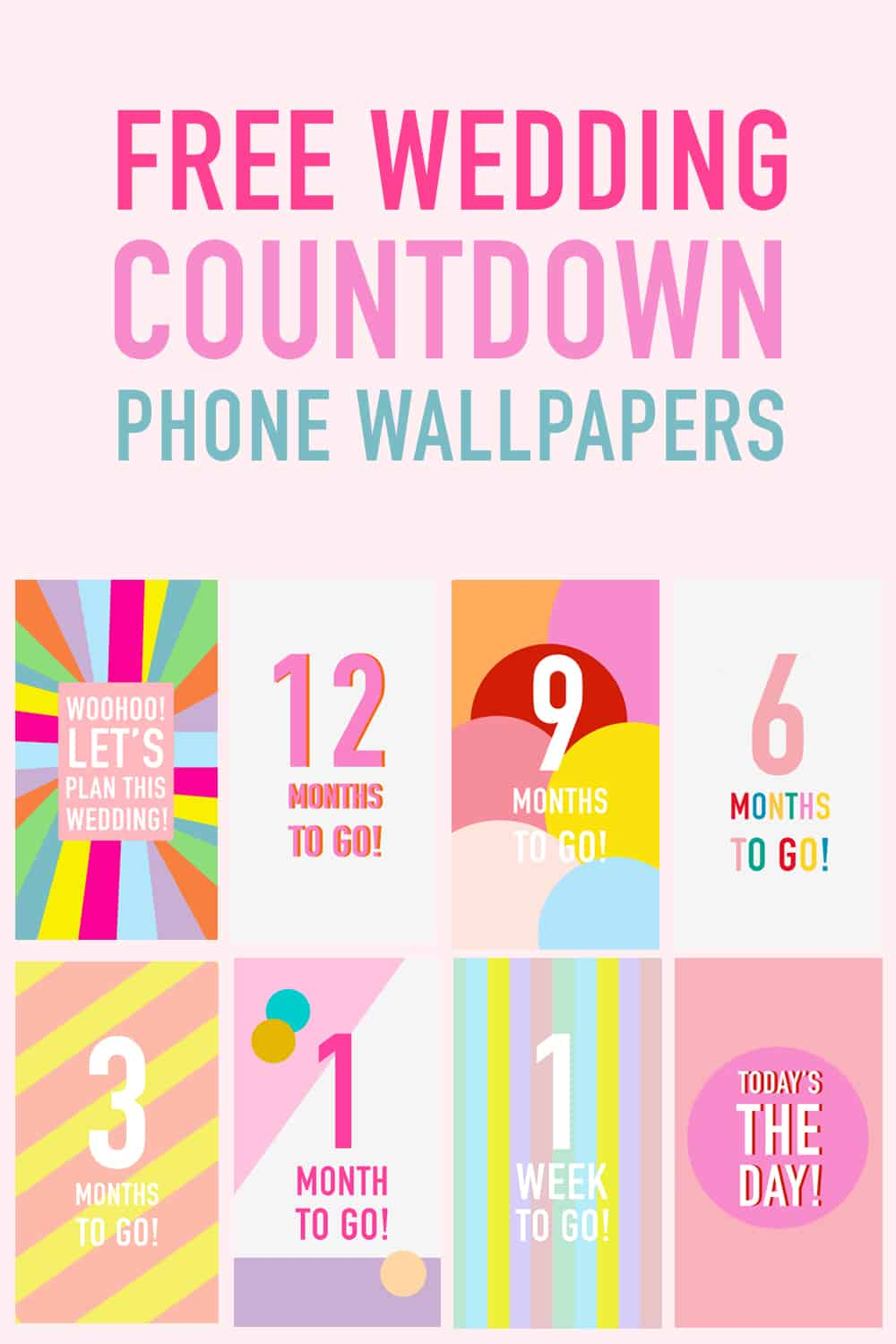 Download These Free Phone Wallpapers To Countdown Your Wedding