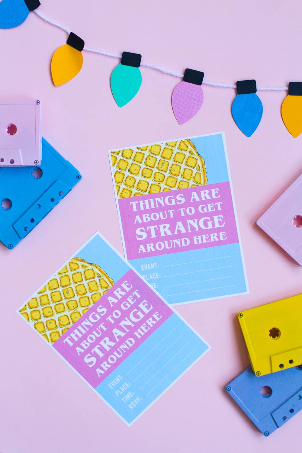 HOW TO THROW A MINI STRANGER THINGS PARTY (+ FREE PRINTABLE INVITE!)