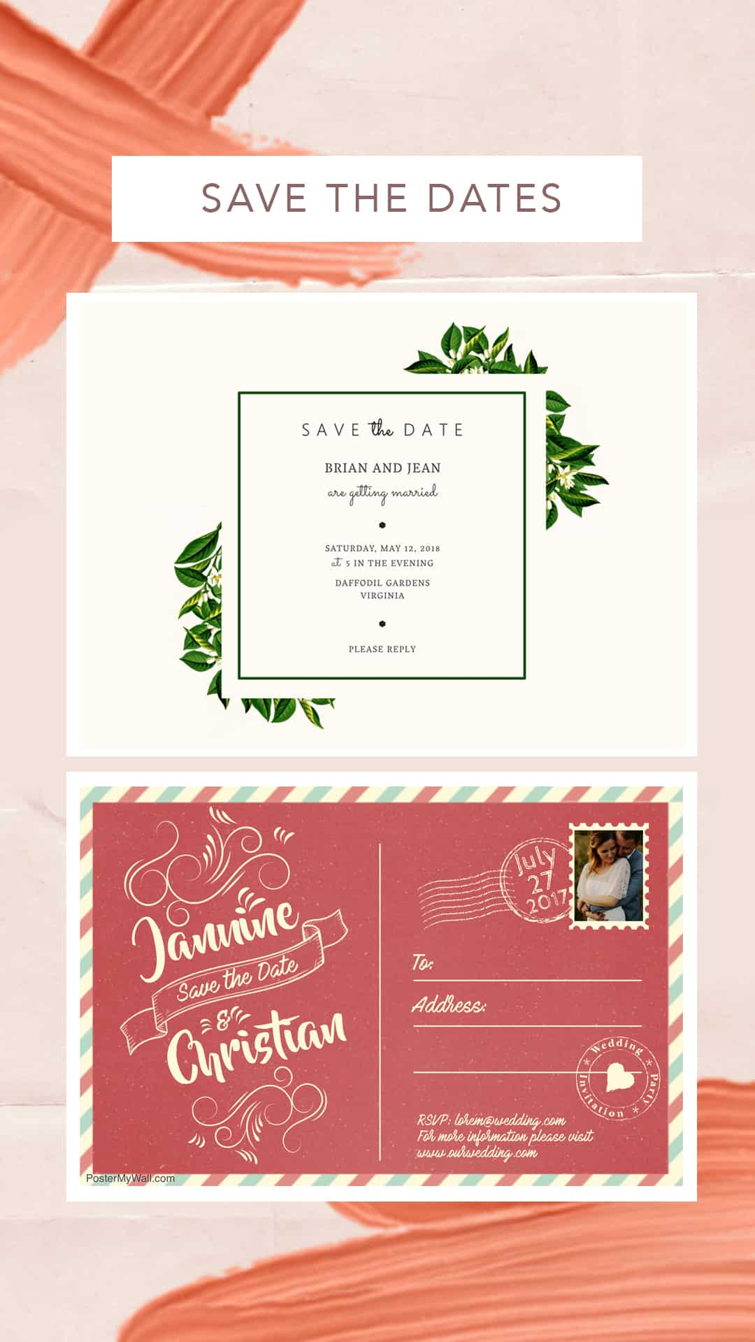 wedding stationery with postermywall