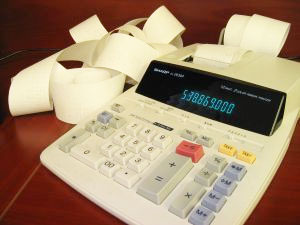 Image of an accounting calculator
