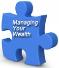 "Image of a Puzzle Piece with Caption ""Managing Your Wealth"""