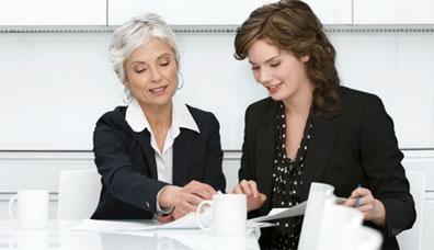 Image of 2 women meeting