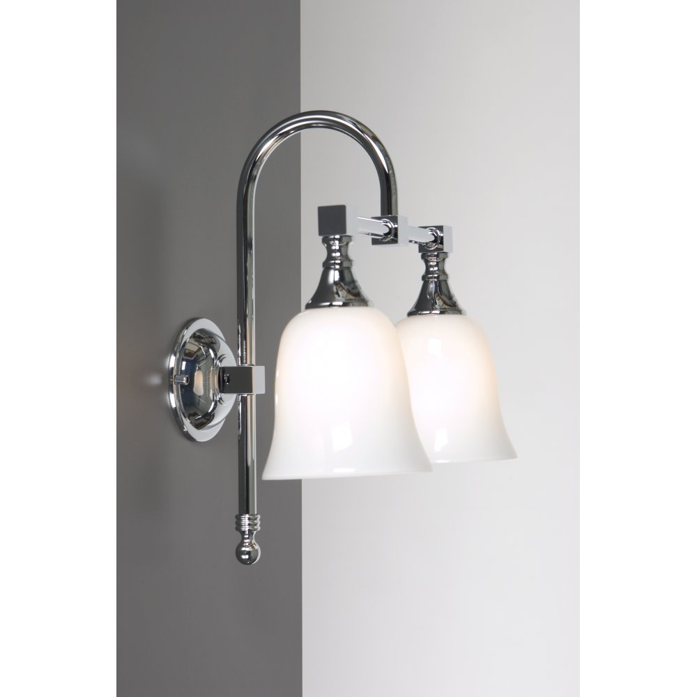 Old Fashioned Double Bathroom Wall Light for Lighting Period Bathrooms