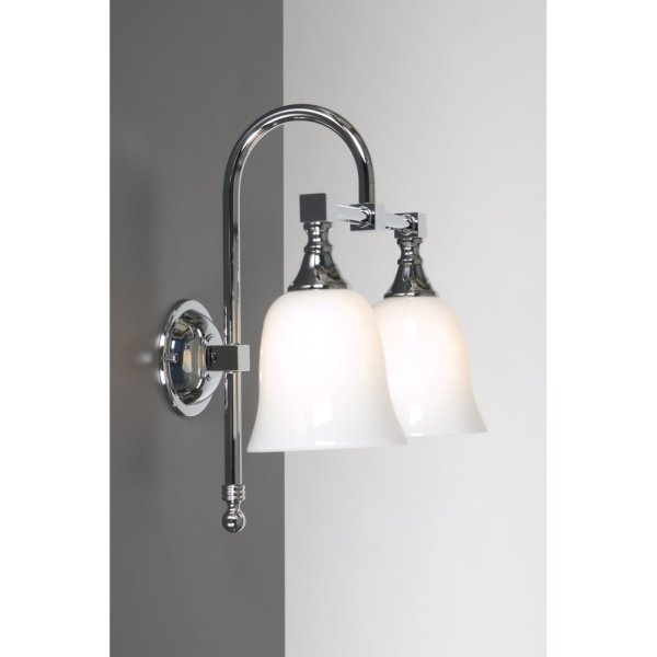 traditional bathroom wall lights Old Fashioned Double Bathroom Wall Light for Lighting