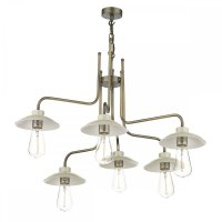 Cream & Antique Brass Vintage Ceiling Light for Dining ...