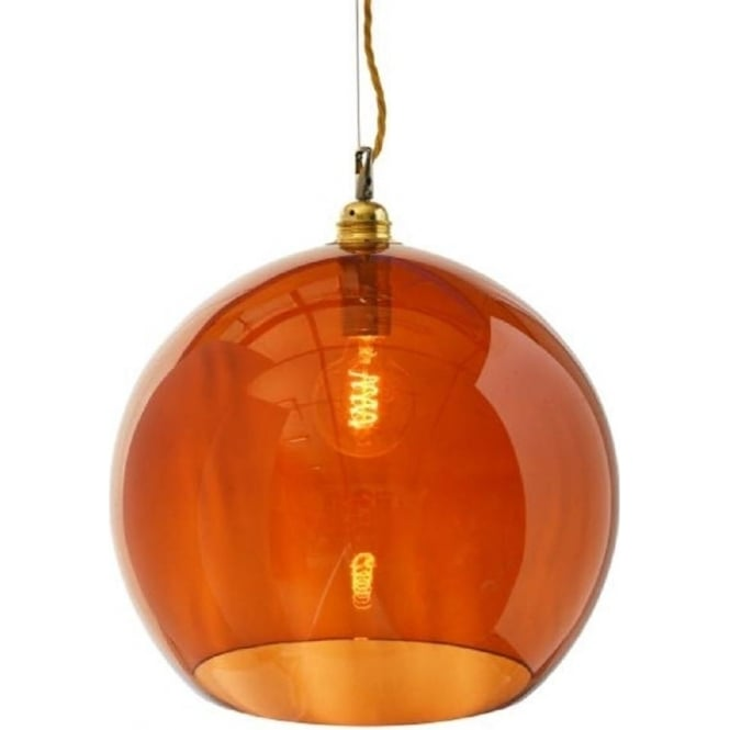 hanging pendant light living room apartment therapy chairs transparent rusty orange glass ceiling for ...