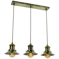 Hanging Kitchen Island Light with 3 Nautical Style Antique ...