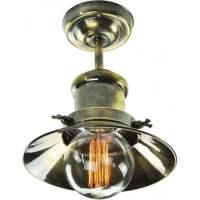 Edison Semi-Flush Ceiling Light in Industrial Nautical Design