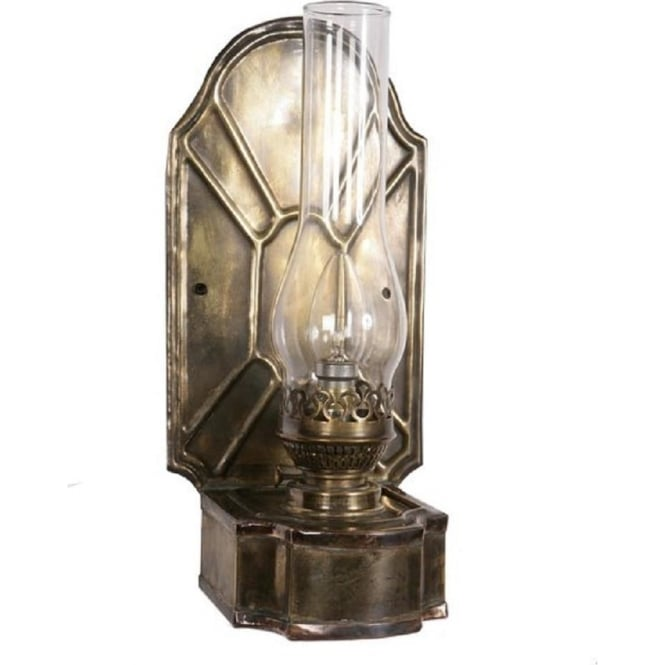 Replica Antique Oil Lantern Wall Light Authentic Victorian