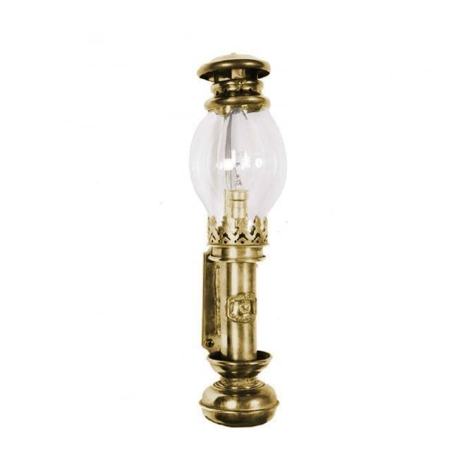 Victorian Cabin Lamp Wall Light, Replica Ship's Oil Lamp
